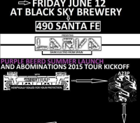 :Concert Review: The Abominations Tour 2015 – Larva, Wiretrap, A23P @ Black Sky Brewery, Denver, CO