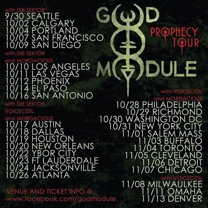 God Module Tour Dates