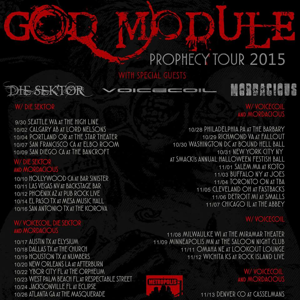 God Module Prophecy Tour 2015 Updated