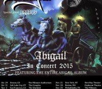 :Tour Information: King Diamond to Perform Entire 'Abigail' Album On US Tour, Exodus To Support