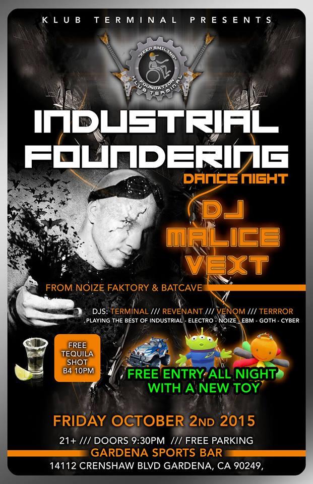 Industrial Fundraising Dance Night Oct 2 2015