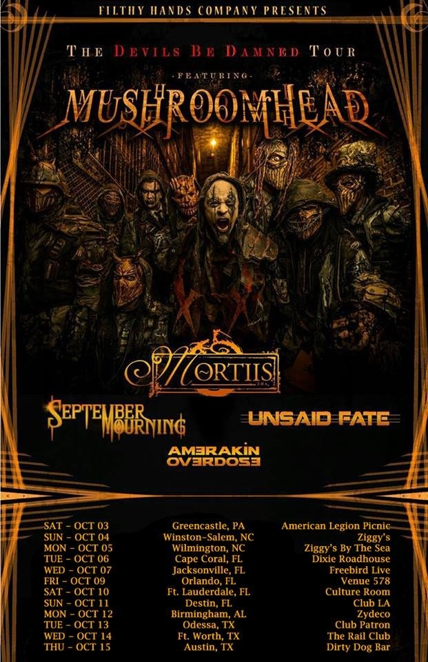 Sept Mourning Mortiis Mushroomhead Tour 2015