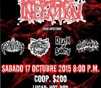 :Concert: Dead Infection – Octubre 17, 2015 @ Hot-Rod Bar, Puebla, Mexico