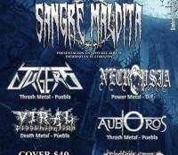 :Festival: Sangre Maldita – Noviembre 7, 2015 @ Estudio 803, Puebla, Mexico