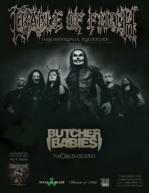 Cradle of Filth 2016 Tour
