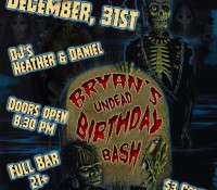 :Special Event: Darkwave Garden New Year's Eve Party and Bryan Pollard's Undead Birthday Bash @ The Bancroft, Spring Valley, CA