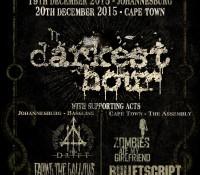 :Tour Information: Darkest Hour 20th Anniversary Tour – December 18 – 20 2015, South Africa