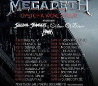 :Tour Information: Megadeth Dystopia World Tour
