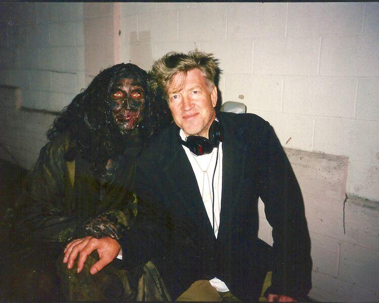 Bonnie A as Bum with David Lynch
