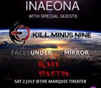 :Concert Review/Interview: InAeona, Kill Minus Nine, Faces Under the Mirror, Blakk Mantra – July 2, 2016 – Denver, CO